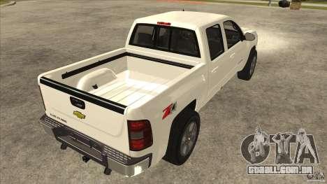 Chevrolet Cheyenne 2011 para GTA San Andreas vista direita