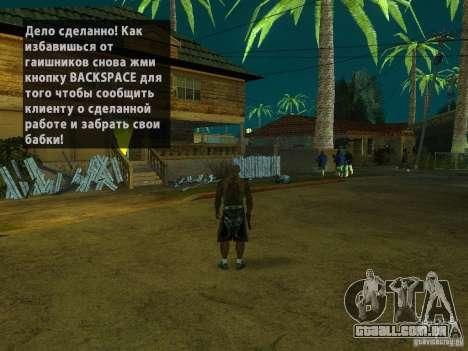 Killer Mod para GTA San Andreas por diante tela