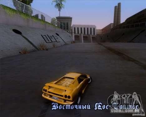 Lamborghini Diablo VTTT Black Revel para vista lateral GTA San Andreas