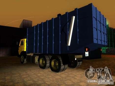 Caminhão de lixo 53212 KAMAZ para GTA San Andreas esquerda vista