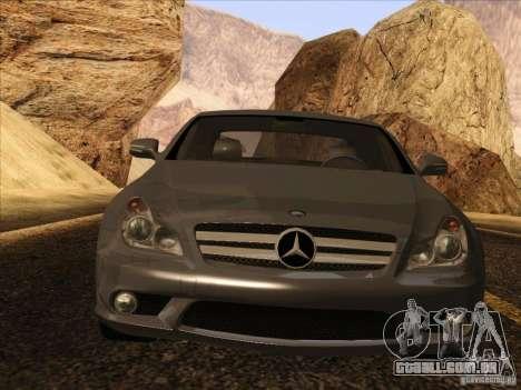 Mercedes-Benz CLS63 AMG para GTA San Andreas traseira esquerda vista