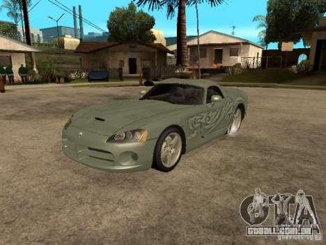 Dodge Viper para GTA San Andreas interior