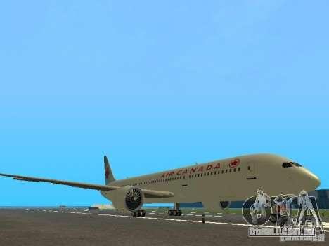 Boeing 787 Dreamliner Air Canada para GTA San Andreas esquerda vista