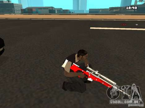 White Red Gun para GTA San Andreas