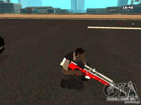White Red Gun para GTA San Andreas