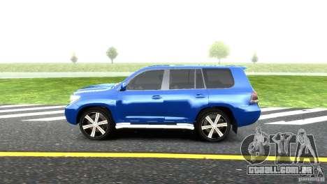 Toyota Land Cruiser 200 RESTALE para GTA 4 esquerda vista