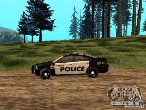Dodge Charger Canadian Victoria Police 2011 para GTA San Andreas esquerda vista