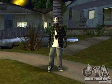 O novo Anonymus Grove para GTA San Andreas