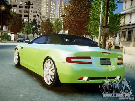 Aston Martin DB9 Volante v2.0 para GTA 4 esquerda vista