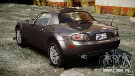 Mazda MX-5 para GTA 4 vista lateral