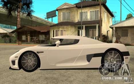 Koenigsegg CCX - Stock para GTA San Andreas esquerda vista