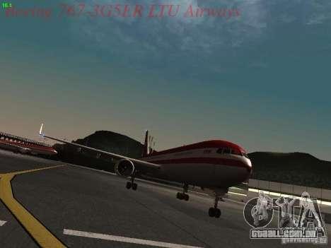 Boeing 767-3G5ER LTU Airways para GTA San Andreas esquerda vista