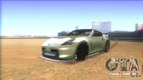 Nissan 370Z Drift 2009 V1.0 para GTA San Andreas vista superior