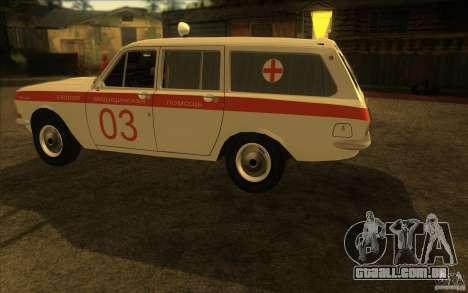 Ambulância de Volga GAZ-24 03 para GTA San Andreas traseira esquerda vista