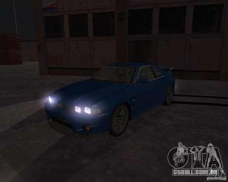 Nissan Skyline GT-R R-33 para GTA San Andreas vista interior