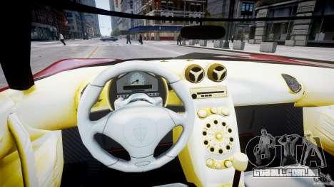Koenigsegg CCRT para GTA 4 vista de volta
