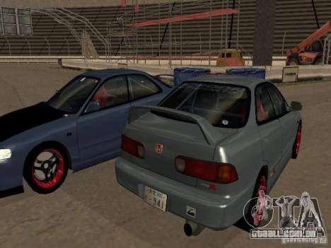 Honda Integra TypeR para GTA San Andreas esquerda vista