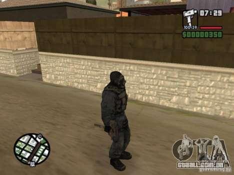 Mercenário de perseguidor em máscara para GTA San Andreas por diante tela