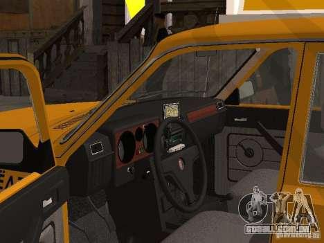 Volga GAZ 31029 Taxi para GTA San Andreas traseira esquerda vista