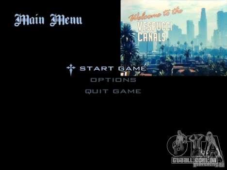 O menu principal no estilo de GTA 5 para GTA San Andreas
