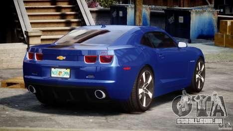 Chevrolet Camaro v1.0 para GTA 4 vista lateral
