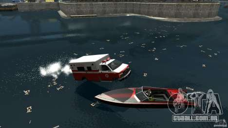 Ambulance boat para GTA 4 vista direita