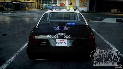 Ford Crown Victoria SFPD K9 Unit [ELS] para GTA 4 motor
