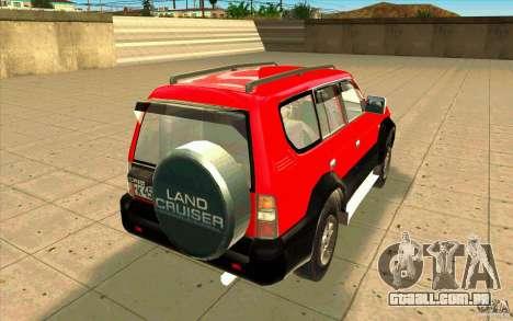 Toyota Land Cruiser Prado para GTA San Andreas vista direita
