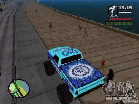 Um monstro no estilo do FC ZENIT para GTA San Andreas traseira esquerda vista
