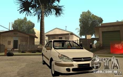 Citroen C5 HDI para GTA San Andreas vista traseira