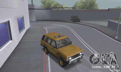 Range Rover County Classic 1990 para vista lateral GTA San Andreas