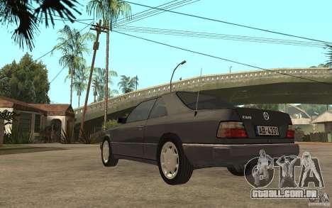 Mercedes-Benz 320CE C124 para GTA San Andreas traseira esquerda vista