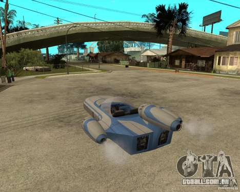 X34 Landspeeder para GTA San Andreas esquerda vista
