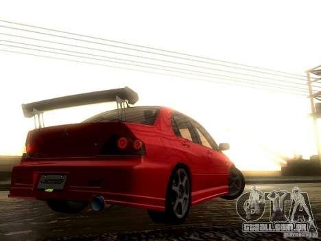 Mitsubishi Lancer Evolution VIII Full Tunable para GTA San Andreas vista superior