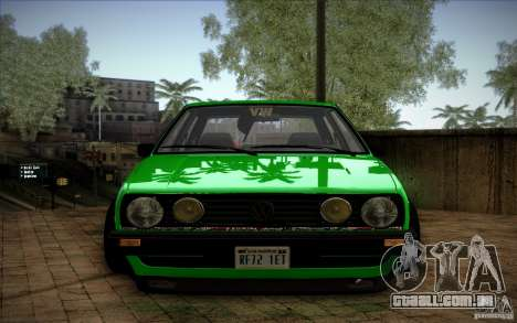 VW Golf MK2 Stanced para GTA San Andreas vista traseira