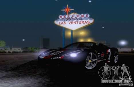 Ferrari F458 para GTA San Andreas vista superior