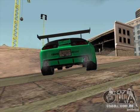 Toyota Supra ZIP style para GTA San Andreas vista traseira