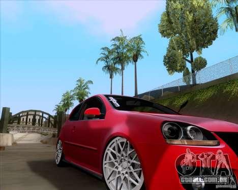 Volkswagen Golf MK5 GTI Stance para GTA San Andreas esquerda vista
