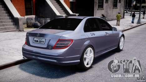 Mercedes-Benz C180 CGi Classic Special 2009 para GTA 4 vista lateral