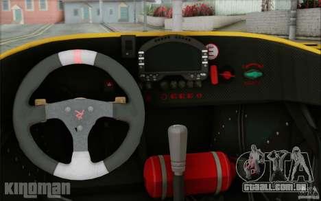 Radical SR3 RS 2009 para GTA San Andreas vista interior