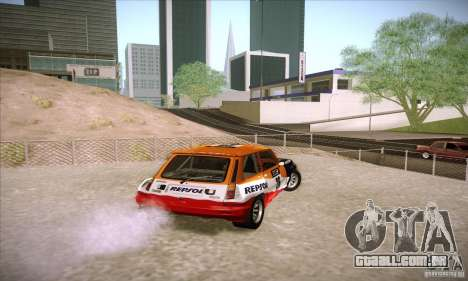 Renault 5 GT Turbo Rally para GTA San Andreas traseira esquerda vista
