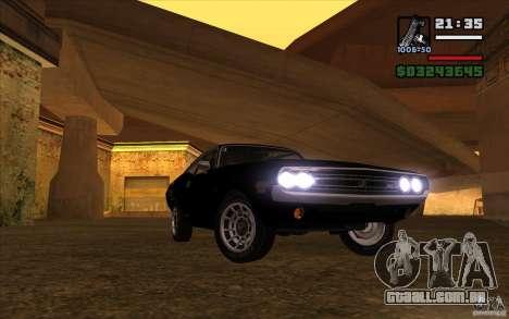 Dodge Challenger 1971 para GTA San Andreas vista traseira