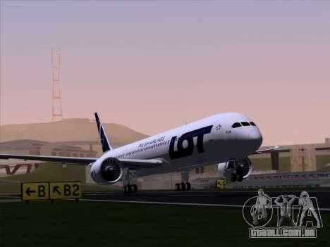 Boeing 787-9 LOT Polish Airlines para GTA San Andreas vista traseira