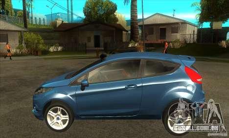 Ford Fiesta Zetec S 2009 para GTA San Andreas esquerda vista
