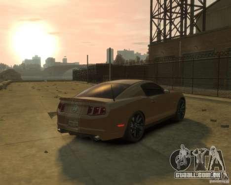 2011 Shelby GT500 Super Snake para GTA 4 traseira esquerda vista