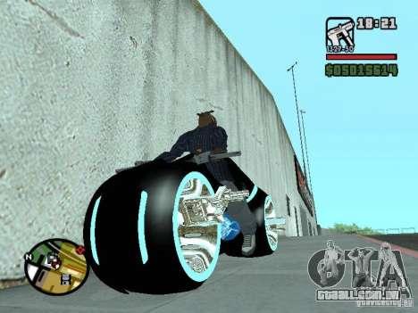 Tron legacy bike v.2.0 para GTA San Andreas vista direita
