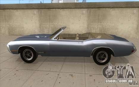 Buick Riviera GS 1969 para GTA San Andreas esquerda vista