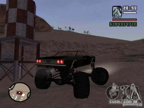 Monster Tampa para GTA San Andreas esquerda vista