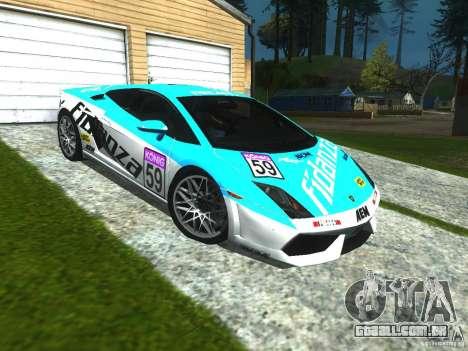 Lamborghini Gallardo LP560-4 para GTA San Andreas vista interior