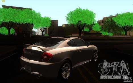 Hyundai Tiburon V6 Coupe 2003 para GTA San Andreas vista direita